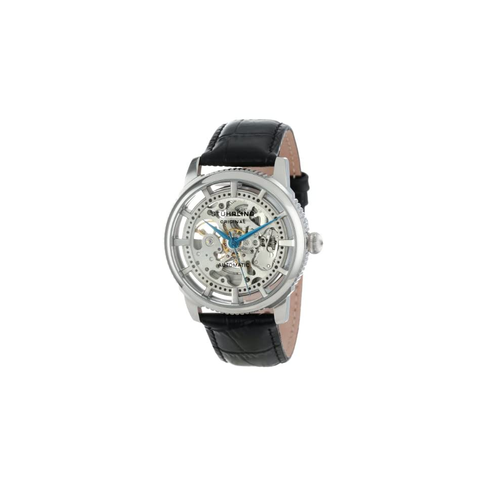 Stuhrling Original Mens 393.33152 Classic Winchester Skeleton Automatic Skeleton Silver Tone Watch