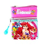 Disney Princess Little Mermaid life under the sea Shoulder Sling Bag Neck Bag Stash Pouch for children girls (PNC-9236)