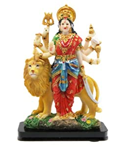 - Colorful Standing Goddess Durga Statue on a Base - Statue Of Durga