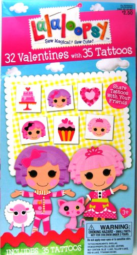 Lalaloopsy 32 Valentines with 35 Tattoos - 1