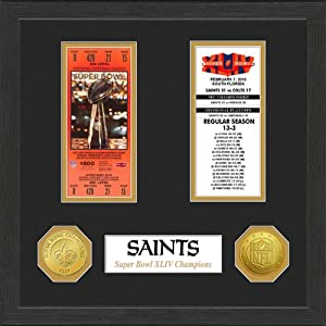 New Orleans Saints New Orleans Saints SB Championship Ticket Collection by Highland Mint