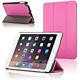 Forefront Cases Leather Case Cover/Stand with Magnetic Auto Sleep Wake Function for Apple iPad Mini - Pink