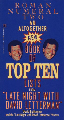 Image for An ALTOGETHER NEW BOOK OF TOP TEN LISTS LATE NIGHT DAVID LETTERMAN