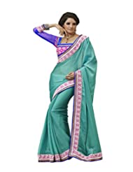 Graceful Blue Chiffon Saree With Blouse