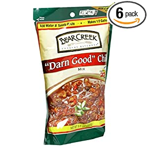 Bear Creek Country Kitchens Darn Good Chili Mix, 9.8 Ounce Bags (Pack of 6)