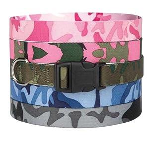 Guardian Gear Nylon Camo Dog Collar, 14-20-Inch, Blue