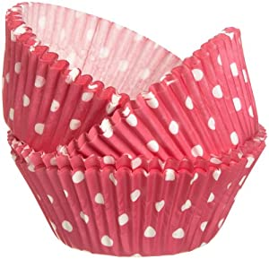 Wilton Pink Dots Baking Cups, 75 Count