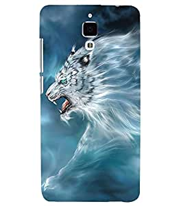 PRINTSWAG LION Designer Back Cover Case for XIAOMI REDMI MI4