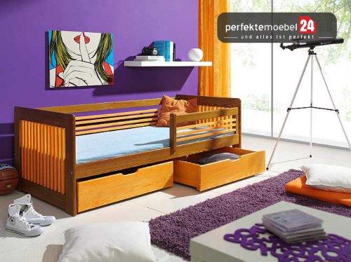 KLARA inkl. LATTENROST und MATRATZE Kinderbett Jugendbett Einzelbett massiv Kiefer