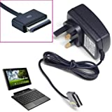 HNPtech 15V UK Mains Charger 40 pin Adapter for for ASUS Eee Pad Transformer TF101, Prime TF201, SL101, Pad 300 TF300 TF700T