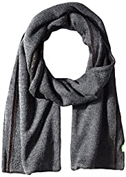 BOSS Green Men\'s Knitted Scarf, Black, One Size