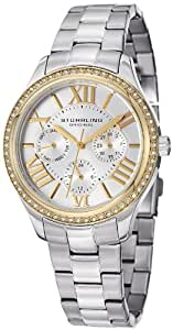 Stuhrling Original Women's 391LS.04 Symphony Regent Majestic Sterling Eccles Quartz Swarovski Crystal Gold Tone Bezel Watch