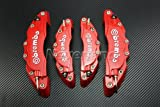 Neverland 4 Front/Rear Universal Disc Brake Caliper Cover Brembo Style Medium+Small Red 3D