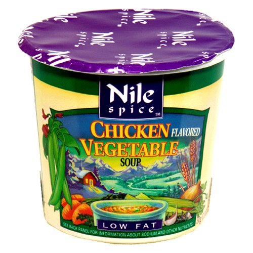 Nile Spice Chicken Flavored Vegetable Soup, Low Fat, 1-Ounce Cups (Pack of 12)