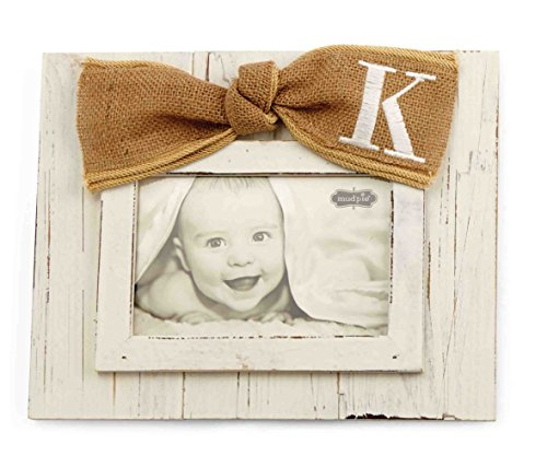 Mud Pie Planked Monogram Bow Frame, K