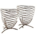 Randy Ouzts Wire Beehive on Stand (Set of 2)