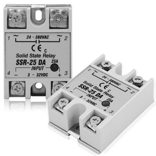 Solid State Relays SSR 3-32V DC Output 24-380V AC 25A