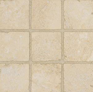 Arizona Tile 6 by 6-Inch Tumbled Travertine Tile, Camargo, 6-Total