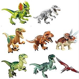 Lego Compatible Jurassic World Dinosaur Toy 6PCS/set Building Blocks Cartoon Movie Jurrassic Park 4 Dinosaur Bricks Toy (Without Original Box) from Saksit