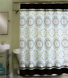 Styles 2014 Blue And Brown Shower Curtain
