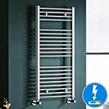 Maine Thermostatic Chrome Straight Electric Towel Rail