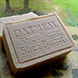 Natural Ground Organic Oatmeal Soap with Organic Shea Butter and Brazilian Hazel Nuts ~ Natural Handcrafted...