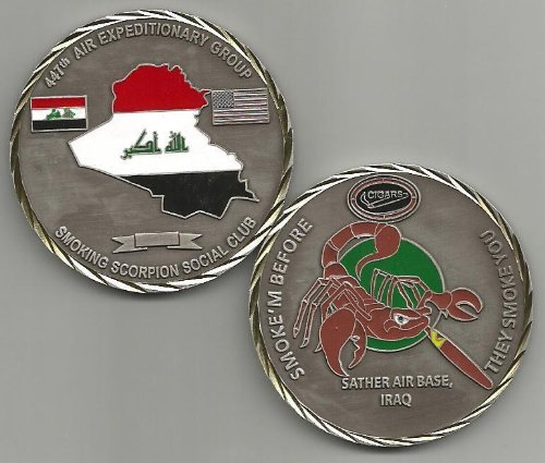 447th Air Expeditionary Group Smoking Scorpion Social Club Challenge Coin