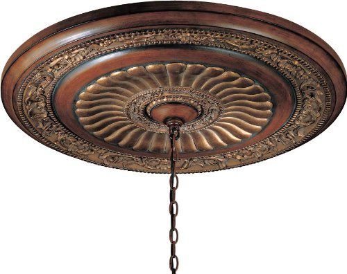Minka Lavery 930-126 Ceiling Medallion from the Belcaro Collection, Belcaro Walnut