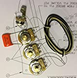 TAOT Wiring Kit - Fender Jazz Bass j-Bass - Solid Shaft - Orange Drop Cap