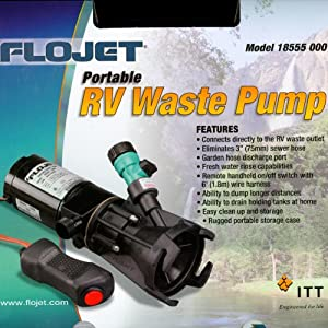 Rv Macerator Pump Septic Tank Dump Pump Portable Rv Waste