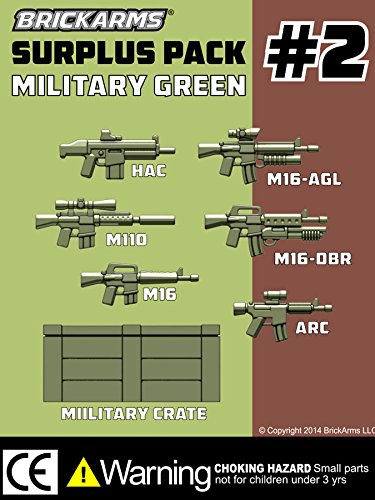 BrickArms-Custom-Surplus-Pack-2-25-Weapons-Pack-7-Piece