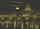 Evening in Rome 1000 Piece Starline Glow-in-The-Dark Puzzle
