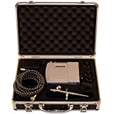 Paasche Airbrush Makeup Brush/Compressor Kit With Case And Batteries