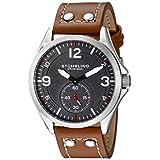 Stuhrling Original Men's 684.02 Tuskegee Analog Display Quartz Brown Watch