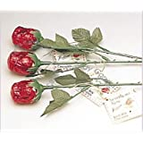 Red Sweetheart Roses Solid Milk Chocolate Bouquet (12 Pcs)