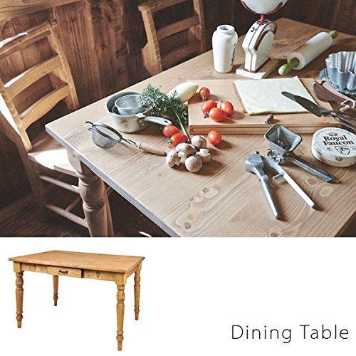 天然木 カントリーデザイン ダイニングテーブル( ダイニングテーブル 食卓 机 ナチュラルカントリー 北欧 天然木 パイン )
