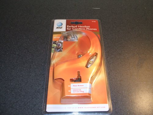At&T H133 Earbud Headset For Cordless Phones