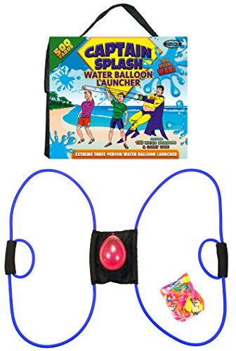 Captain Splash 500 Yard Water Balloon Launcher, 150 FREE Water Balloons and Carry Case, 3 Person Extreme Launcher Slingshot. New 2016 Edition.