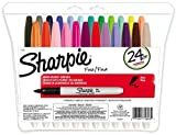Sharpie Fine Point Permanent Markers, 24 Colored Markers (75846)