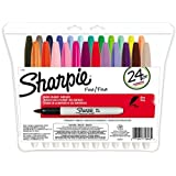 Sharpie Fine Point Permanent Markers, 24 Colored Markers (75846) ~ Sharpie