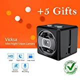 Spy Hidden Camera with Night Vision [Newest model] Smart Mini Spy With Motion Detection, Loop Recording, Magnet - By Vicksa