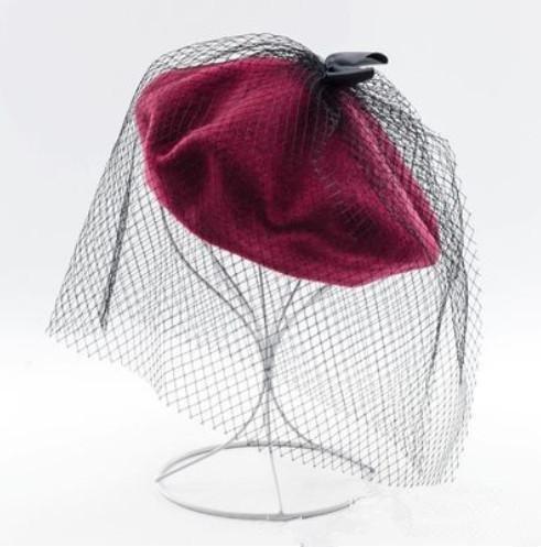 femmes-automne-hiver-simplicite-laine-feute-cozy-chapeau-de-beret-chaud-avec-bow-decore-net-cap-bord