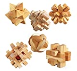KAILIMENG 3D Wooden Cube Brain Teaser Puzzle, Set of 6 Reviews