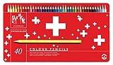 Caran d'ACHE - SWISSCOLOR Aquarelle Buntstifte in Metallbox - 40 Stück hergestellt von Caran d'Ache