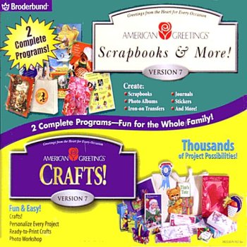 American Greetings Crafts! and Scrapbooks & More! 7.0 - XP Compatible (Jewel Case)