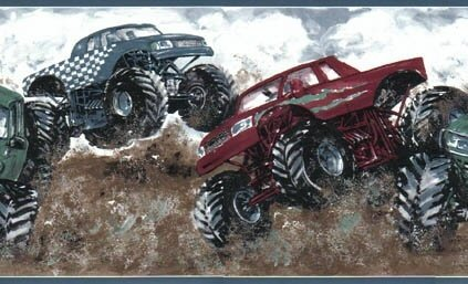 Monster Truck Wallpaper Border (Truck Border compare prices)