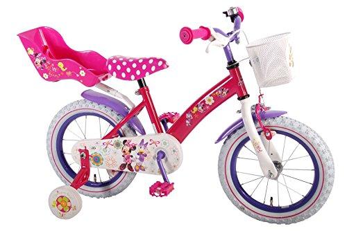 14-Zoll-14-Kinderfahrrad-Fahrrad-Mdchenfahrrad-Disney-Minnie-Mouse-Maus-Bike-VOLARE
