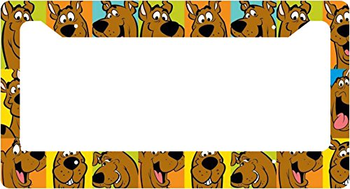 scooby-doo-shaggy-velma-fred-daphine-comic-strip-collage-license-plate-frame-alumminum-car-auto-b