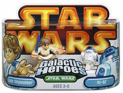 Star Wars Galactic Heroes Episode 2 Junior Figure 2 Pack Luke & R2D2