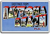 Greetings From Daytona Beach, Florida - Vintage 1940s Postcard fridge magnet
